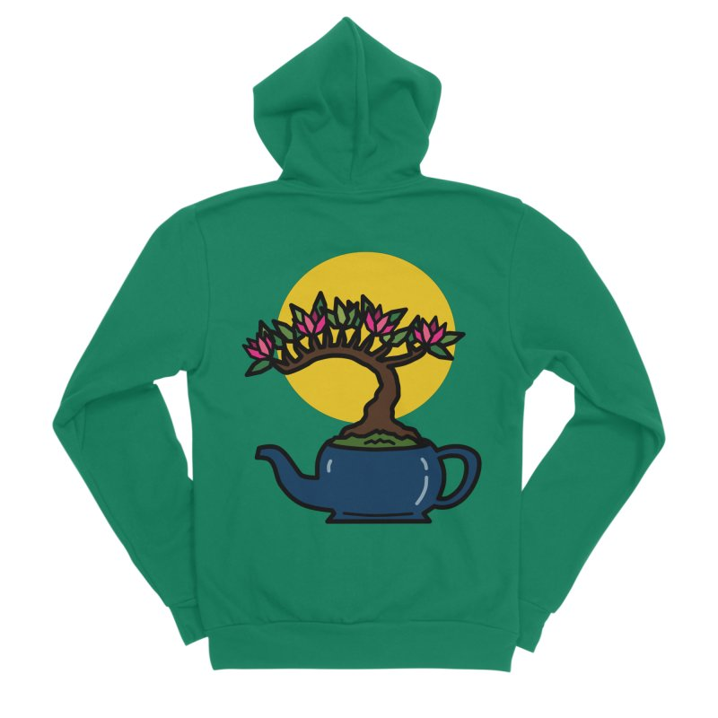Bonsai Tree - #5 Women's Sponge Fleece Zip-Up Hoody by LadyBaigStudio's Artist Shop
