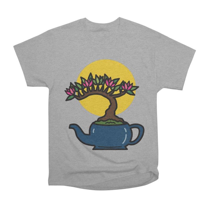 Bonsai Tree - #5 Women's Heavyweight Unisex T-Shirt by LadyBaigStudio's Artist Shop