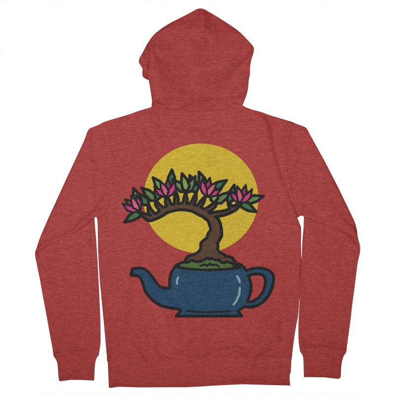 Bonsai Tree - #5 Men's French Terry Zip-Up Hoody by LadyBaigStudio's Artist Shop