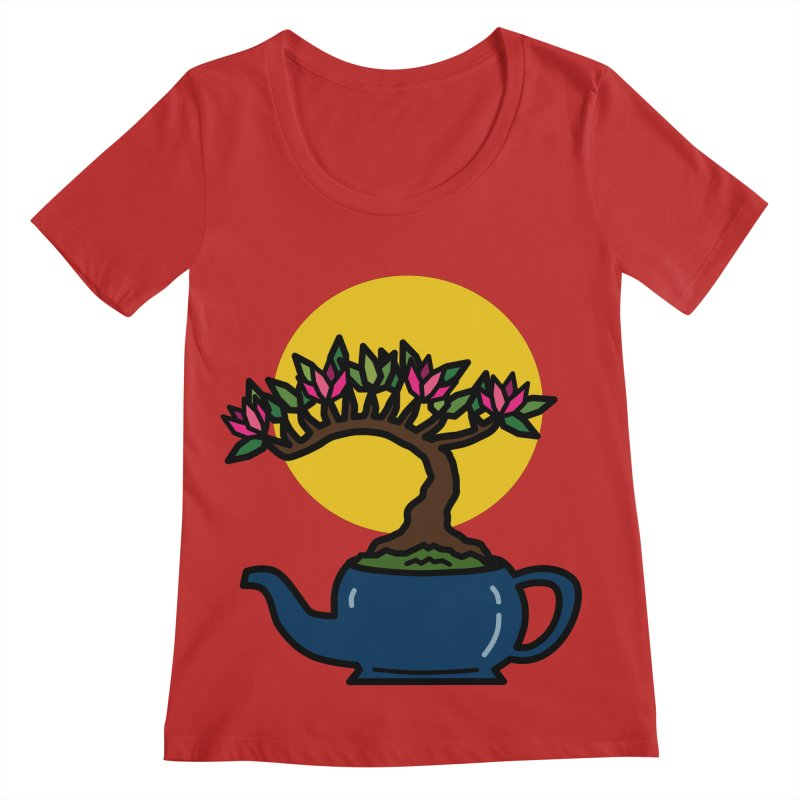 Bonsai Tree - #5 Women's Regular Scoop Neck by LadyBaigStudio's Artist Shop