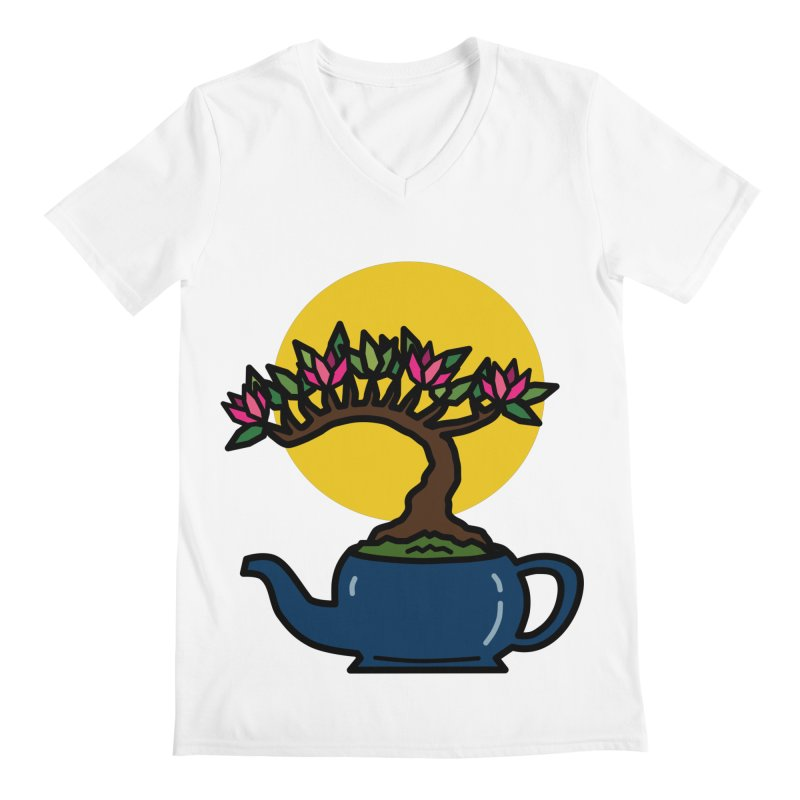 Bonsai Tree - #5 Men's V-Neck by LadyBaigStudio's Artist Shop