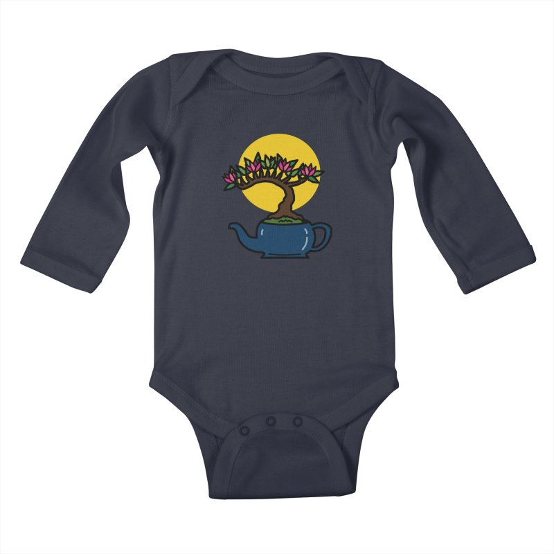 Bonsai Tree - #5 Kids Baby Longsleeve Bodysuit by LadyBaigStudio's Artist Shop