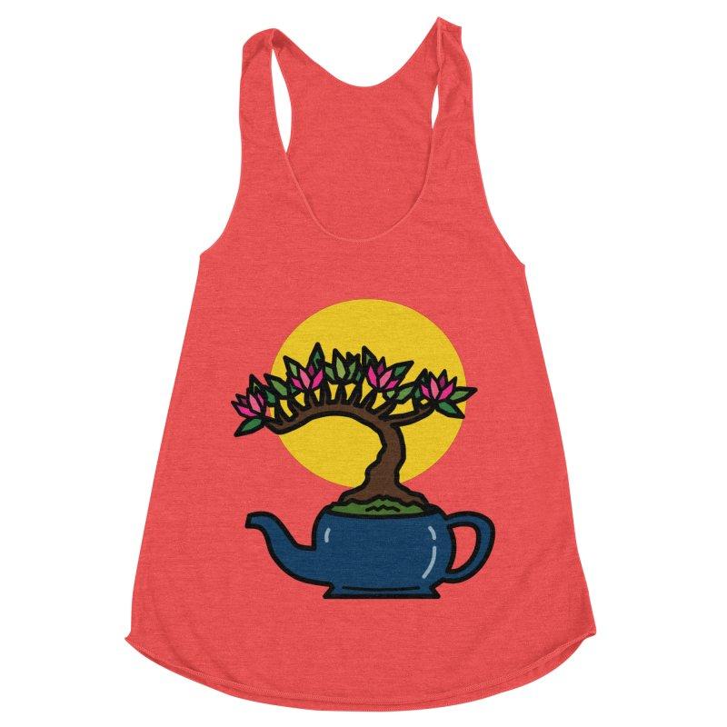 Bonsai Tree - #5 Women's Racerback Triblend Tank by LadyBaigStudio's Artist Shop