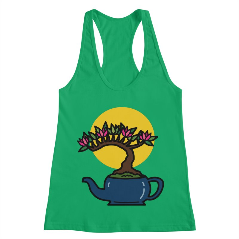 Bonsai Tree - #5 Women's Racerback Tank by LadyBaigStudio's Artist Shop