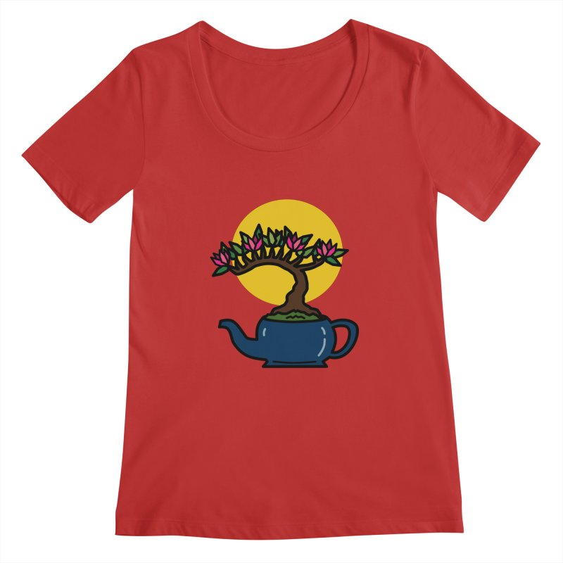 Bonsai Tree - #5 Women's Regular Scoop Neck by LadyBaigStudio's Artist Shop