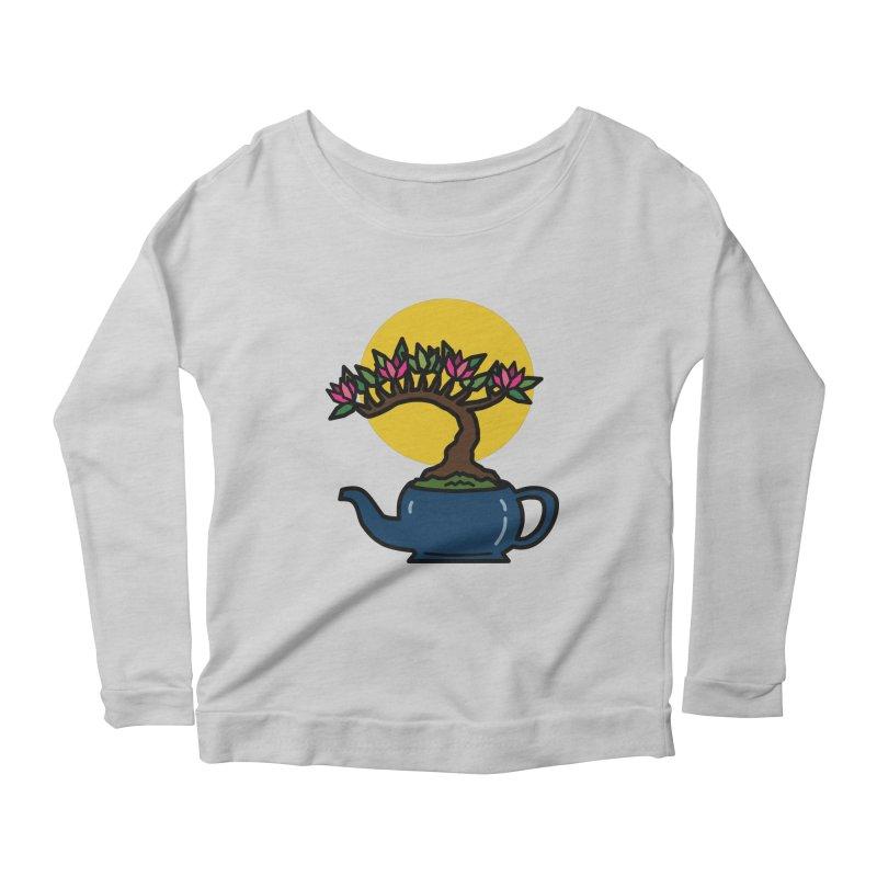 Bonsai Tree - #5 Women's Scoop Neck Longsleeve T-Shirt by LadyBaigStudio's Artist Shop