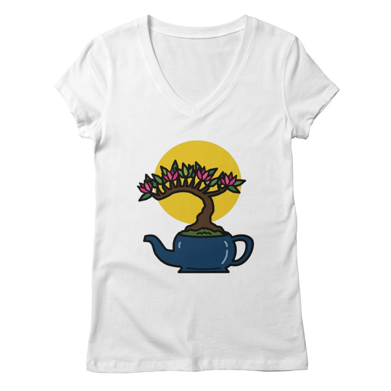 Bonsai Tree - #5 Women's Regular V-Neck by LadyBaigStudio's Artist Shop