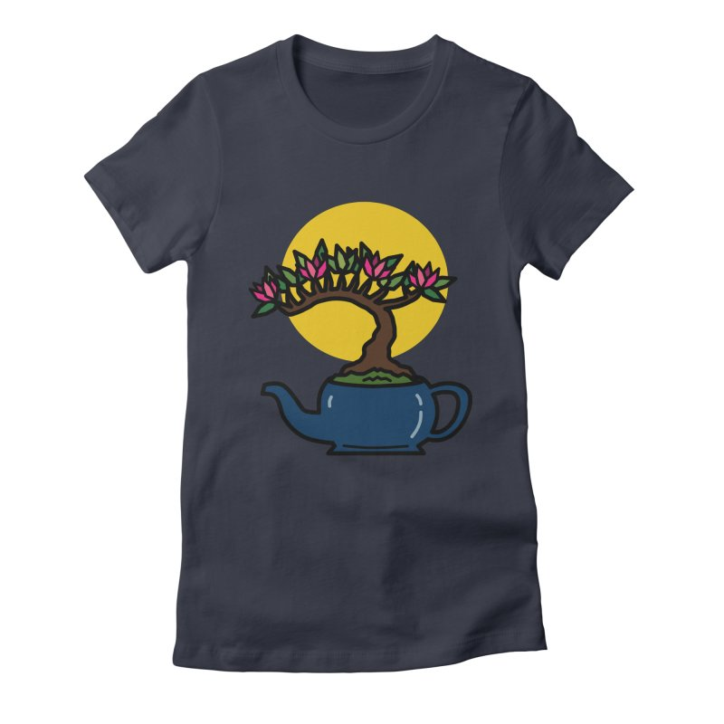 Bonsai Tree - #5 Women's Fitted T-Shirt by LadyBaigStudio's Artist Shop