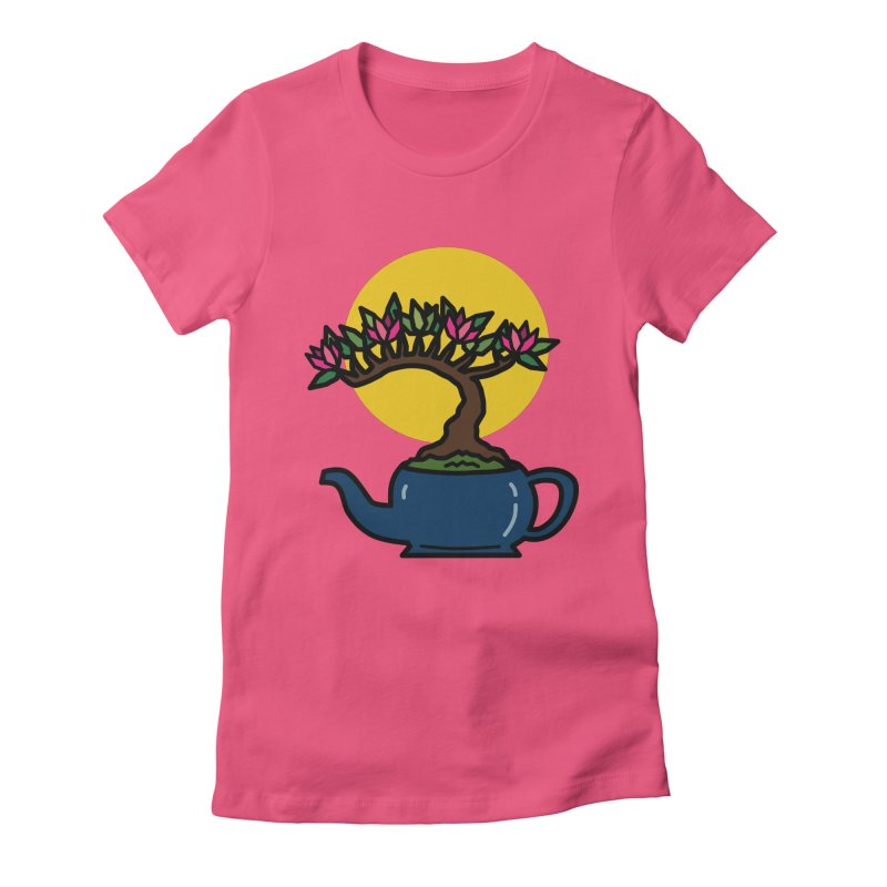 Bonsai Tree - #5 Women's Fitted T-Shirt by LadyBaigStudio's Artist Shop
