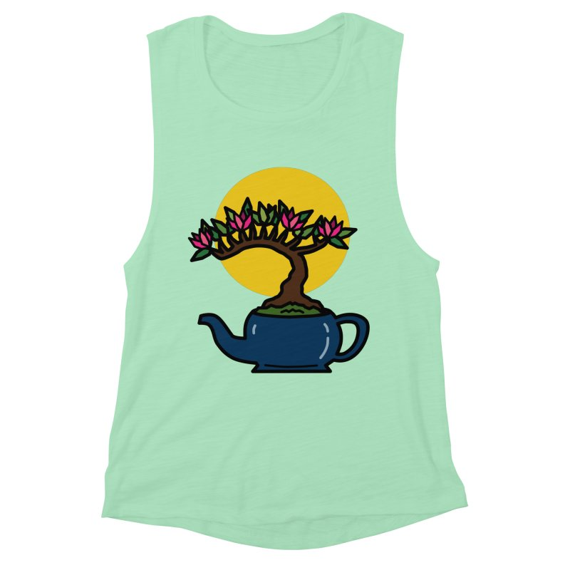 Bonsai Tree - #5 Women's Muscle Tank by LadyBaigStudio's Artist Shop