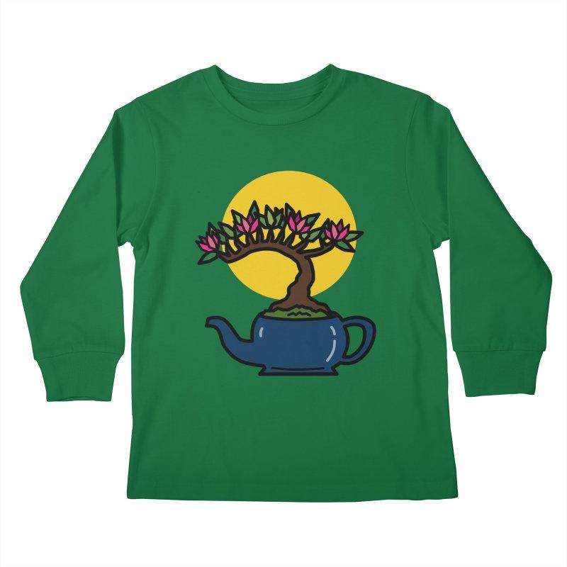 Bonsai Tree - #5 Kids Longsleeve T-Shirt by LadyBaigStudio's Artist Shop