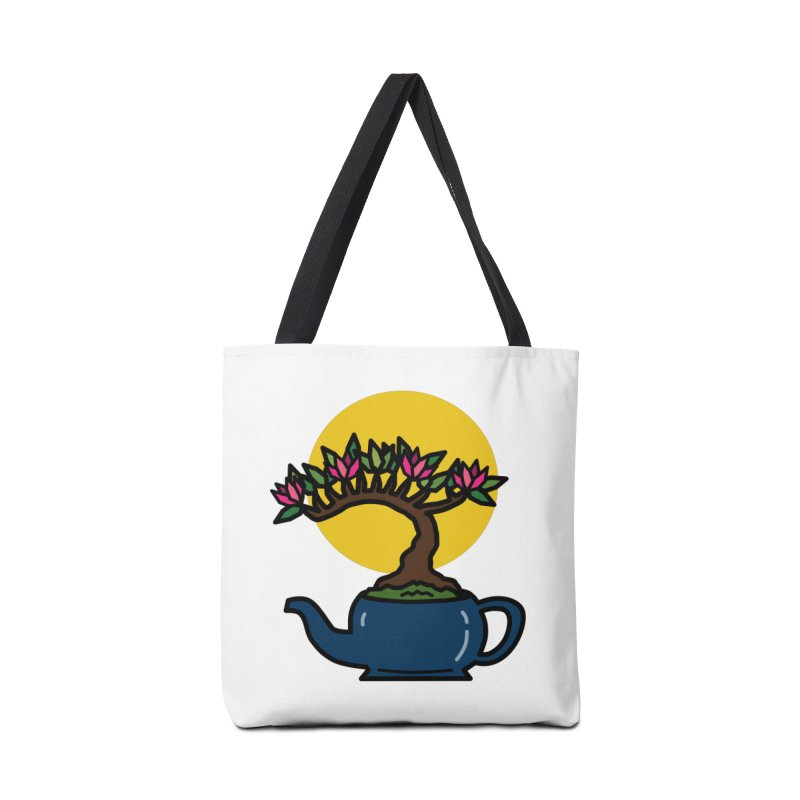 Bonsai Tree - #5 Accessories Tote Bag Bag by LadyBaigStudio's Artist Shop
