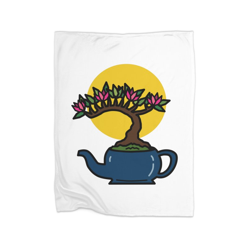 Bonsai Tree - #5 Home Fleece Blanket Blanket by LadyBaigStudio's Artist Shop