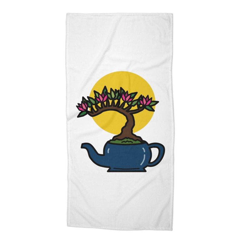 Bonsai Tree - #5 Accessories Beach Towel by LadyBaigStudio's Artist Shop