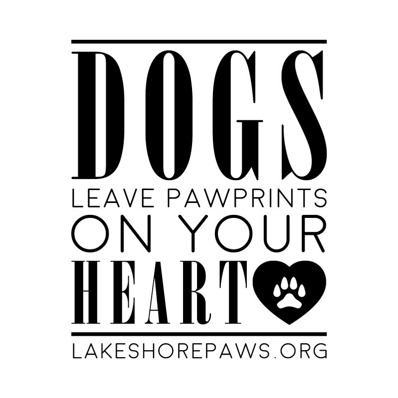 Dogs leave pawprints on your heart Accessories Bag by Lakeshore PAWS's Shop