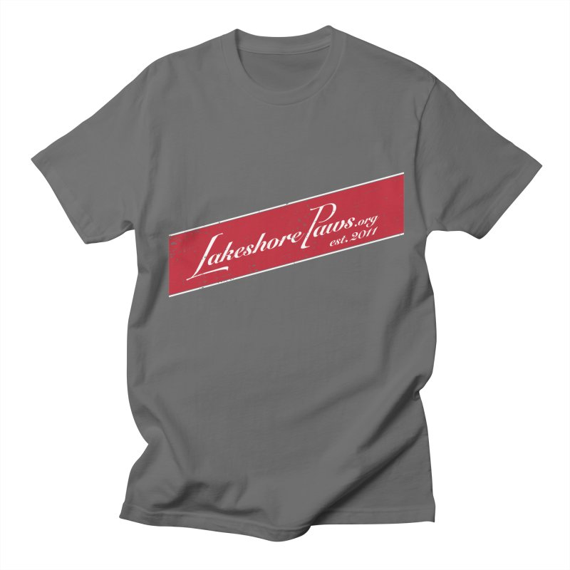 Lakeshore PAWS vintage stripe Men's T-Shirt by Lakeshore PAWS's Shop