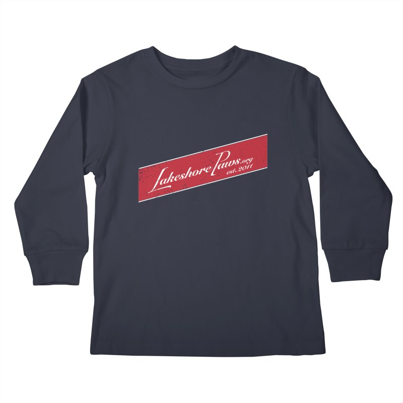 Lakeshore PAWS vintage stripe Kids Longsleeve T-Shirt by Lakeshore PAWS's Shop