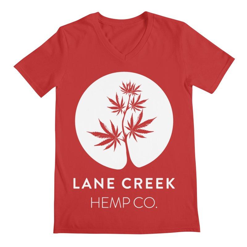 Awwhite Men's V-Neck by Lane Creek Hemp's Artist Shop