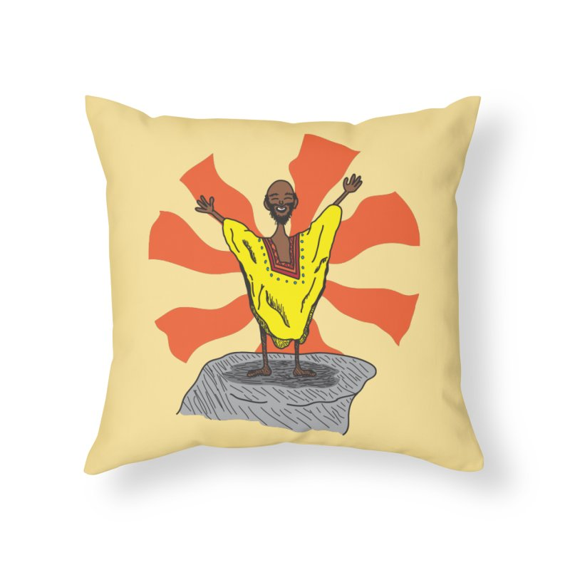 The Elated Guru Home Throw Pillow by Lanky Lad Apparel