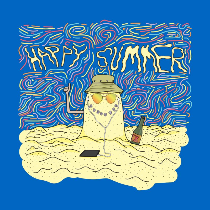 Happy Summer Men's Sweatshirt by Lanky Lad Apparel