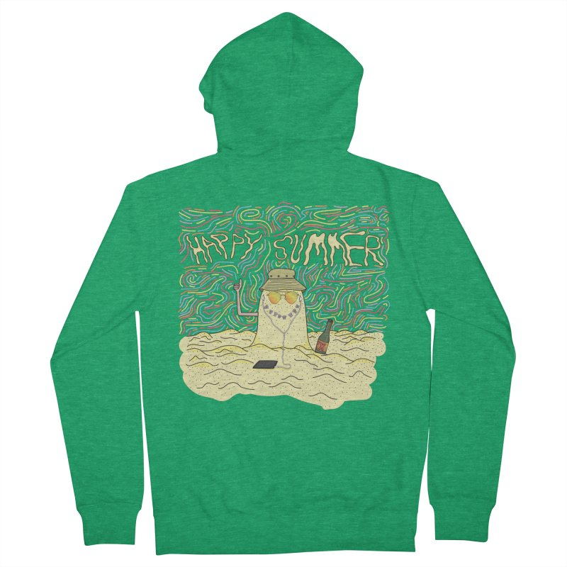 Happy Summer Men's Zip-Up Hoody by Lanky Lad Apparel