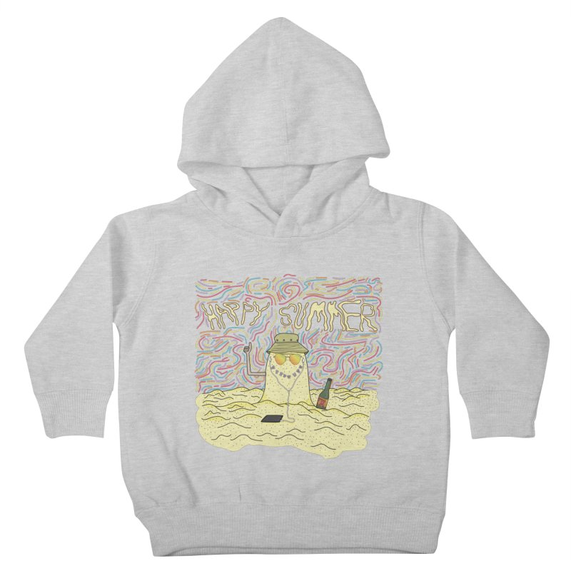 Happy Summer Kids Toddler Pullover Hoody by Lanky Lad Apparel