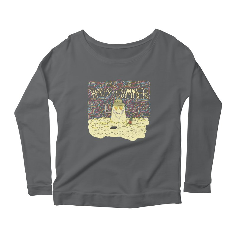 Happy Summer Women's Longsleeve T-Shirt by Lanky Lad Apparel
