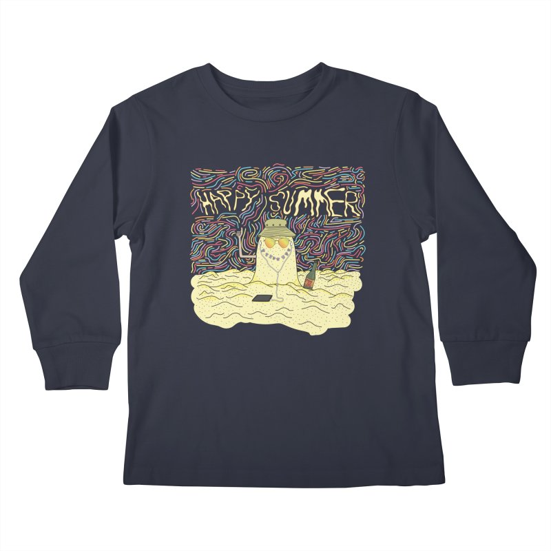 Happy Summer Kids Longsleeve T-Shirt by Lanky Lad Apparel