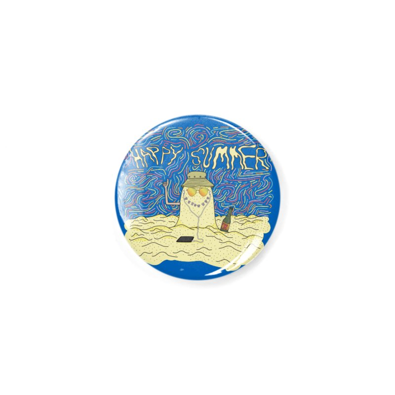 Happy Summer Accessories Button by Lanky Lad Apparel