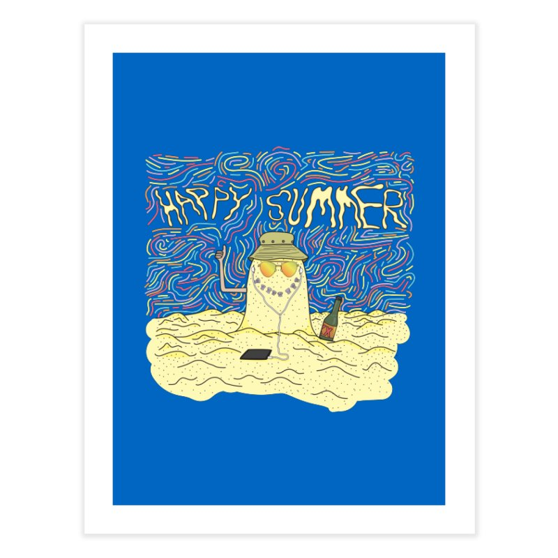 Happy Summer Home Fine Art Print by Lanky Lad Apparel