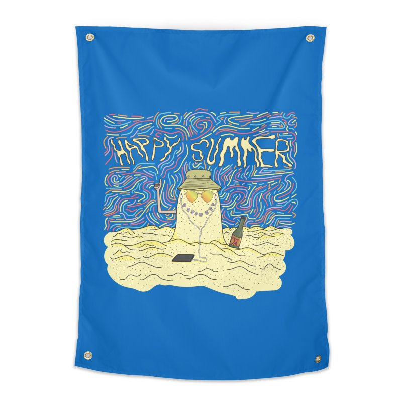 Happy Summer Home Tapestry by Lanky Lad Apparel