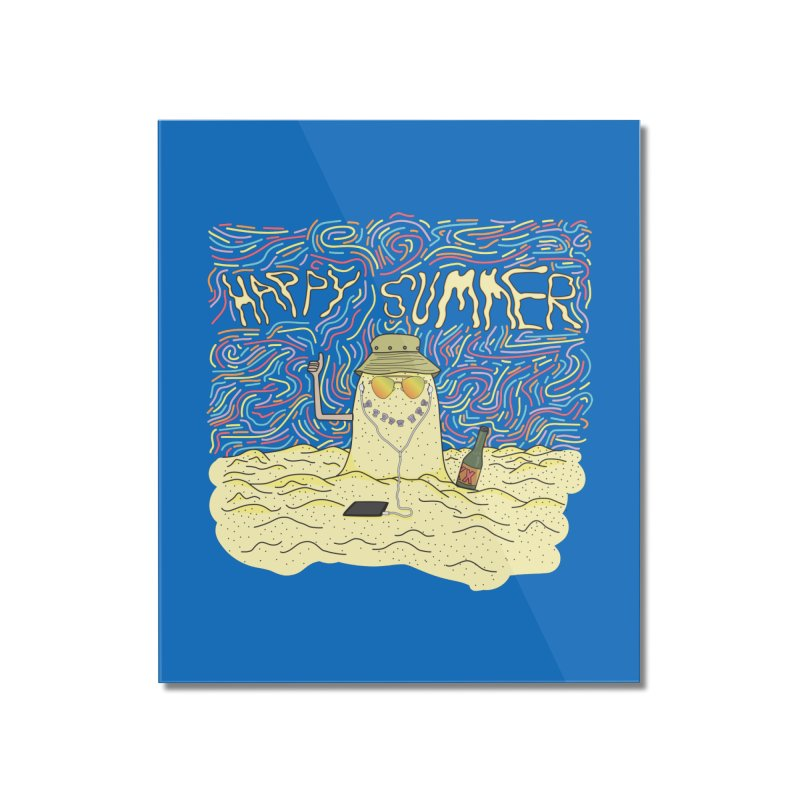 Happy Summer Home Mounted Acrylic Print by Lanky Lad Apparel