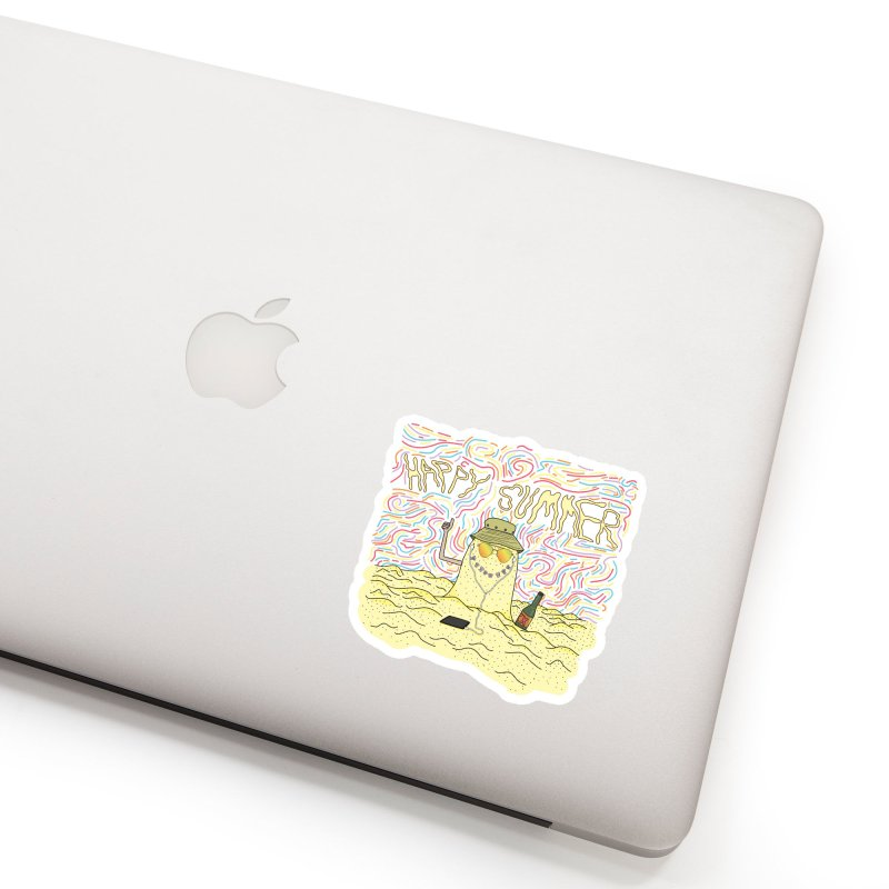 Happy Summer Accessories Sticker by Lanky Lad Apparel
