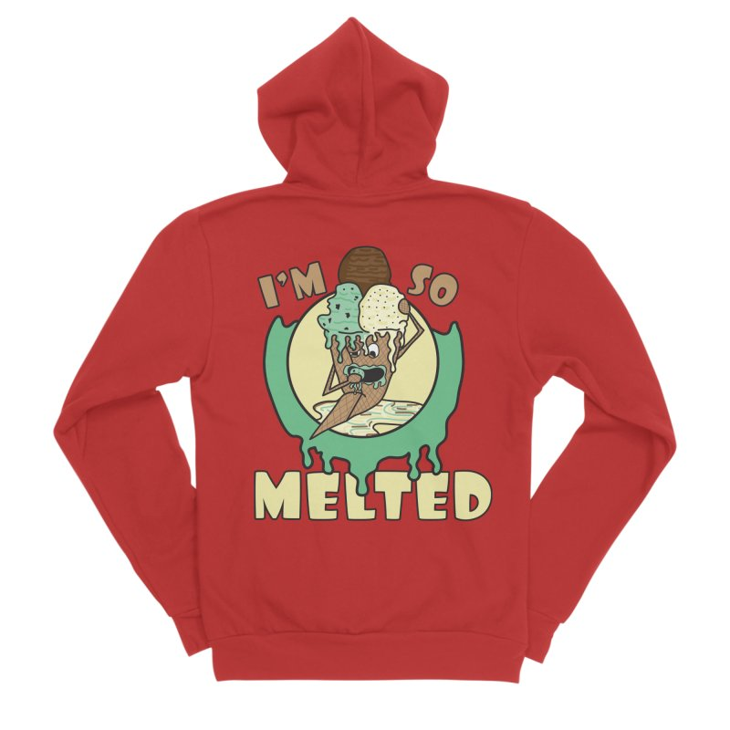 I'M SO MELTED Men's Zip-Up Hoody by Lanky Lad Apparel