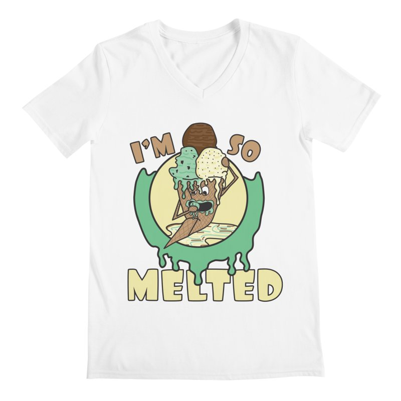 I'M SO MELTED Men's V-Neck by Lanky Lad Apparel