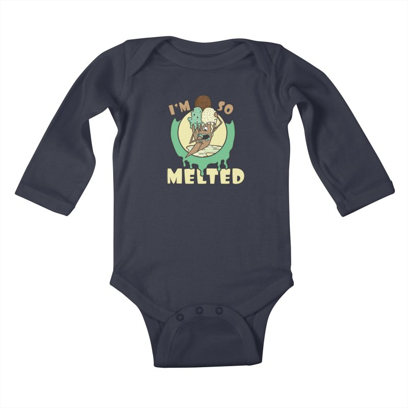 I'M SO MELTED Kids Baby Longsleeve Bodysuit by Lanky Lad Apparel
