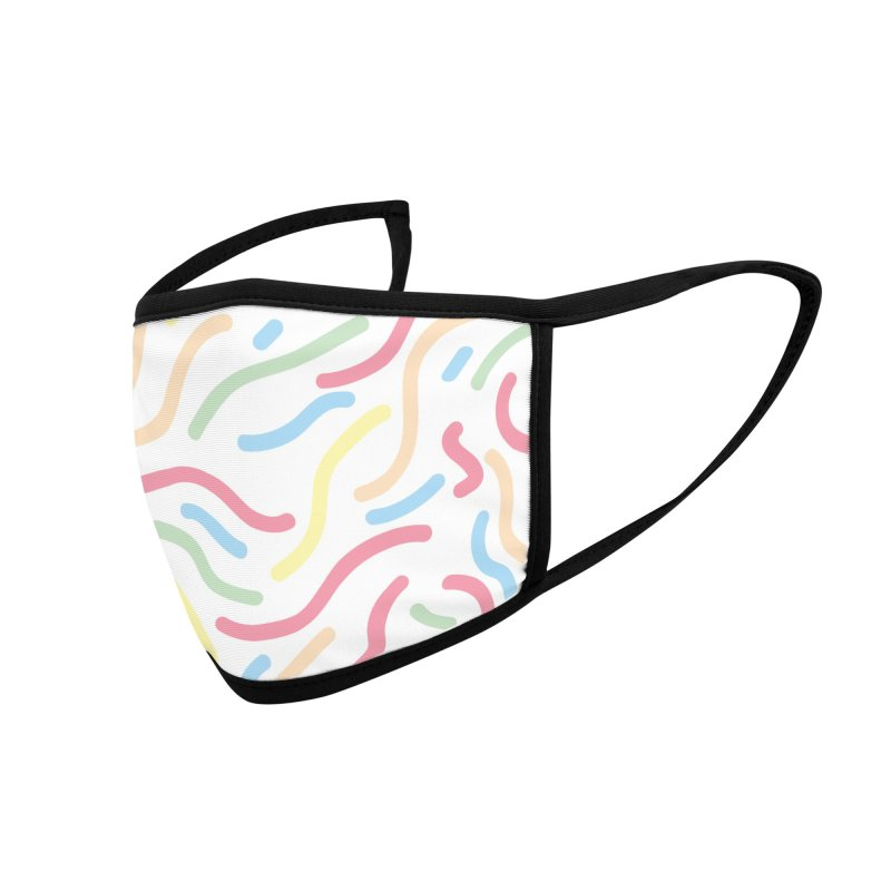 Squiggle Accessories Face Mask by Lanky Lad Apparel