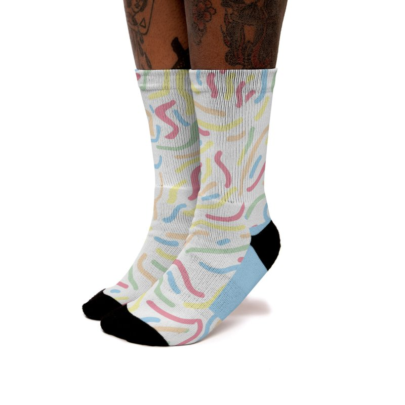 Squiggle Women's Socks by Lanky Lad Apparel