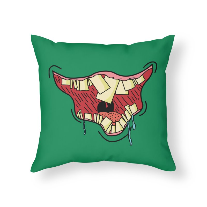 Crooked Smile Home Throw Pillow by Lanky Lad Apparel