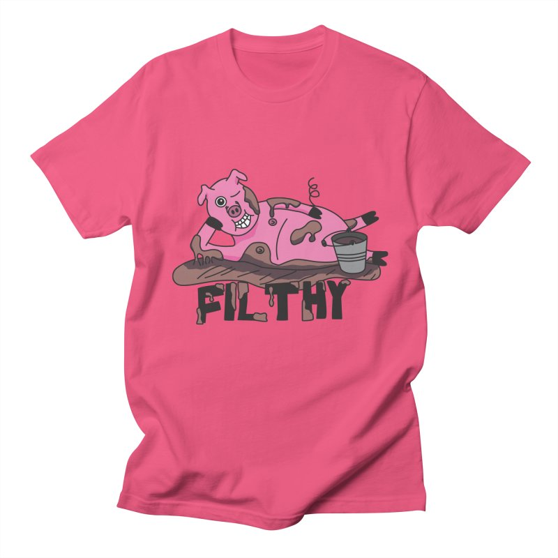 Filthy Pig Men's T-Shirt by Lanky Lad Apparel
