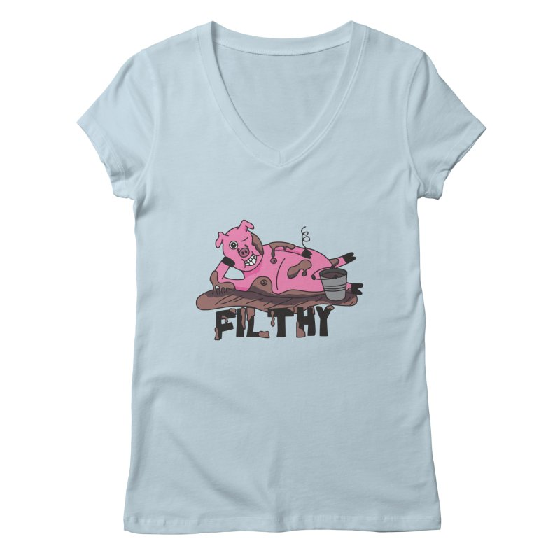 Filthy Pig Women's V-Neck by Lanky Lad Apparel