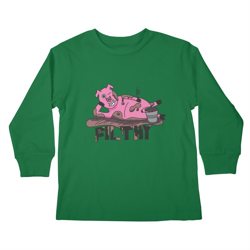 Filthy Pig Kids Longsleeve T-Shirt by Lanky Lad Apparel
