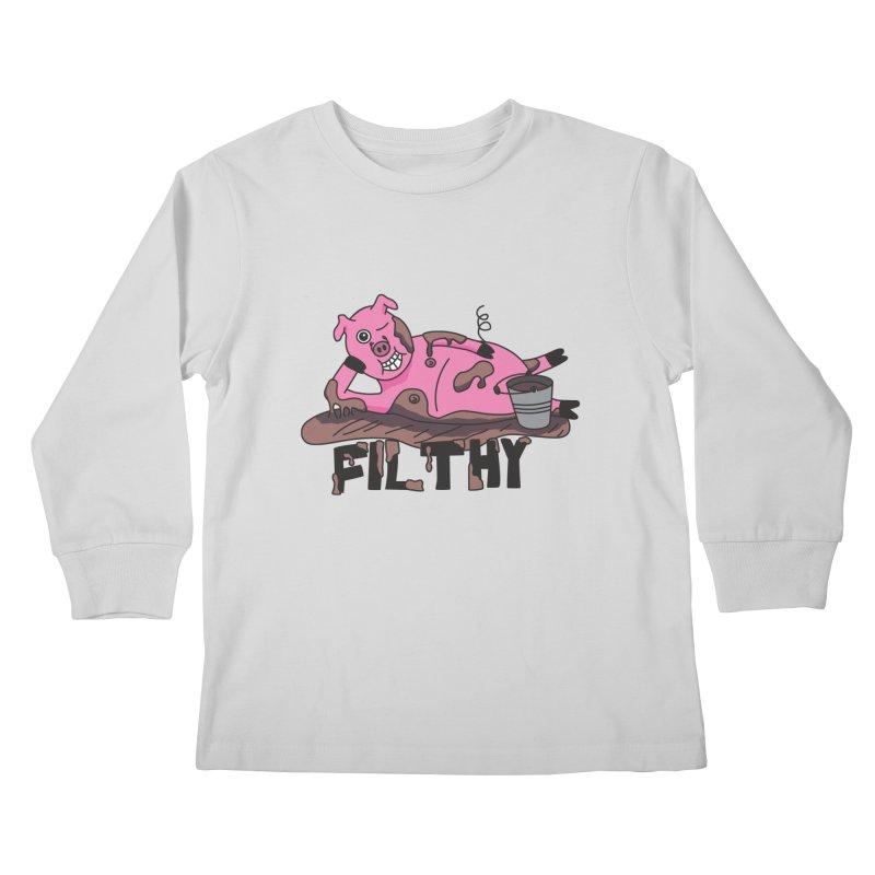 Filthy Pig Kids Longsleeve T-Shirt by Lanky Lad Apparel