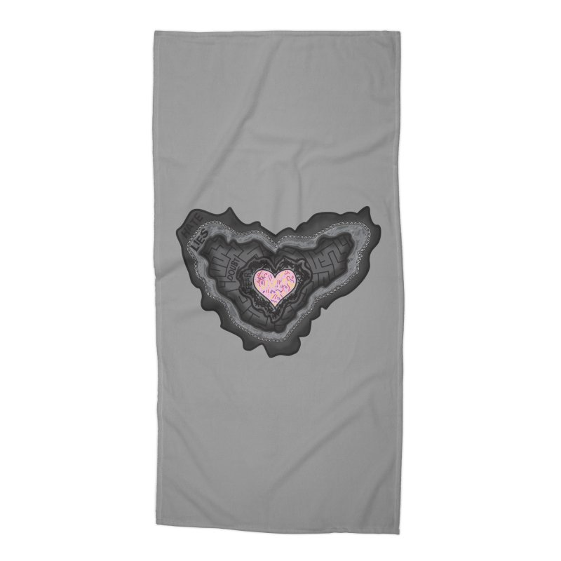 Hard Shell Accessories Beach Towel by Lanky Lad Apparel