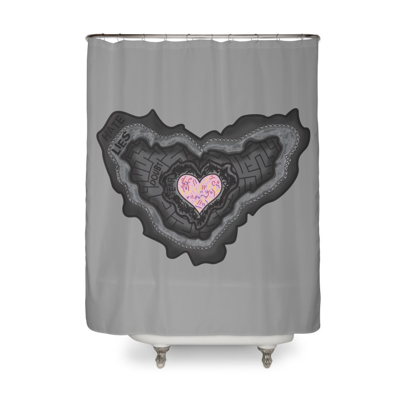Hard Shell Home Shower Curtain by Lanky Lad Apparel
