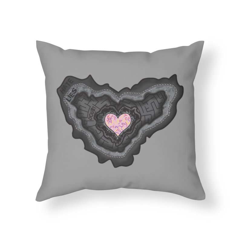 Hard Shell Home Throw Pillow by Lanky Lad Apparel