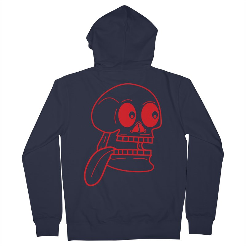 The Eager Skeleton Women's Zip-Up Hoody by Lanky Lad Apparel
