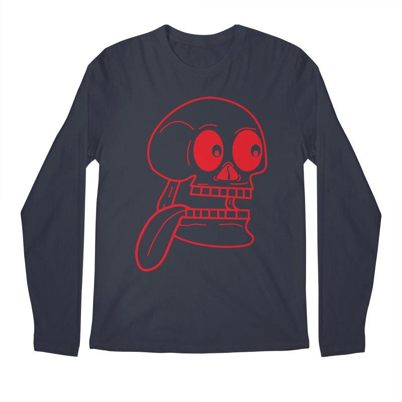 The Eager Skeleton Men's Longsleeve T-Shirt by Lanky Lad Apparel