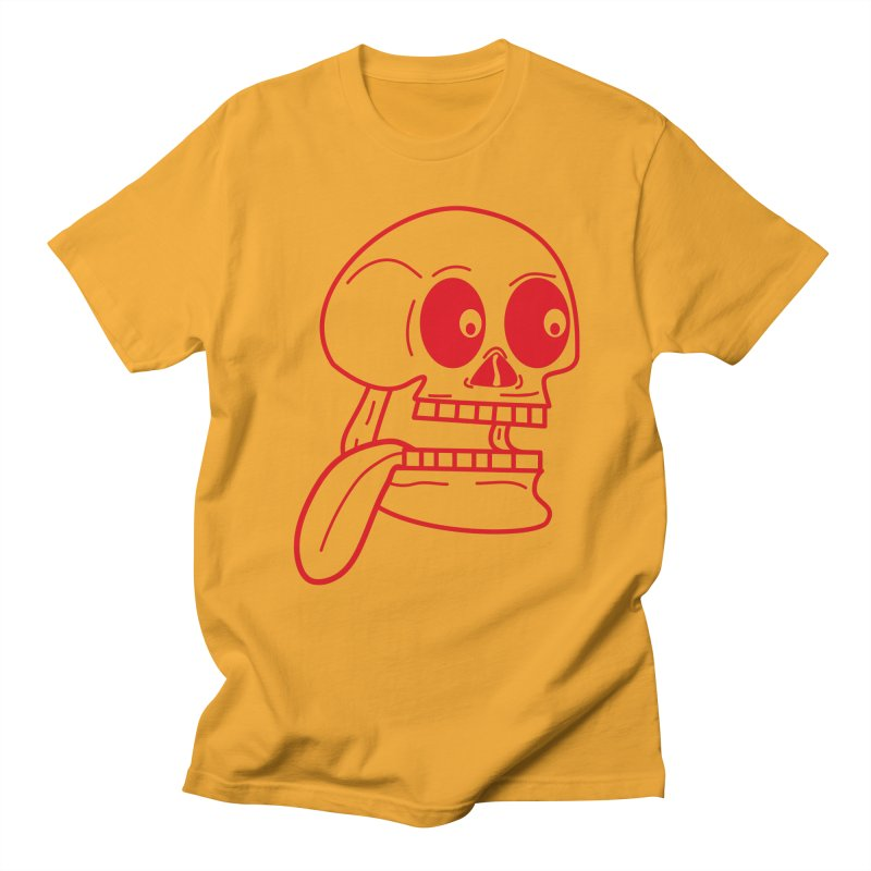 The Eager Skeleton Men's T-Shirt by Lanky Lad Apparel
