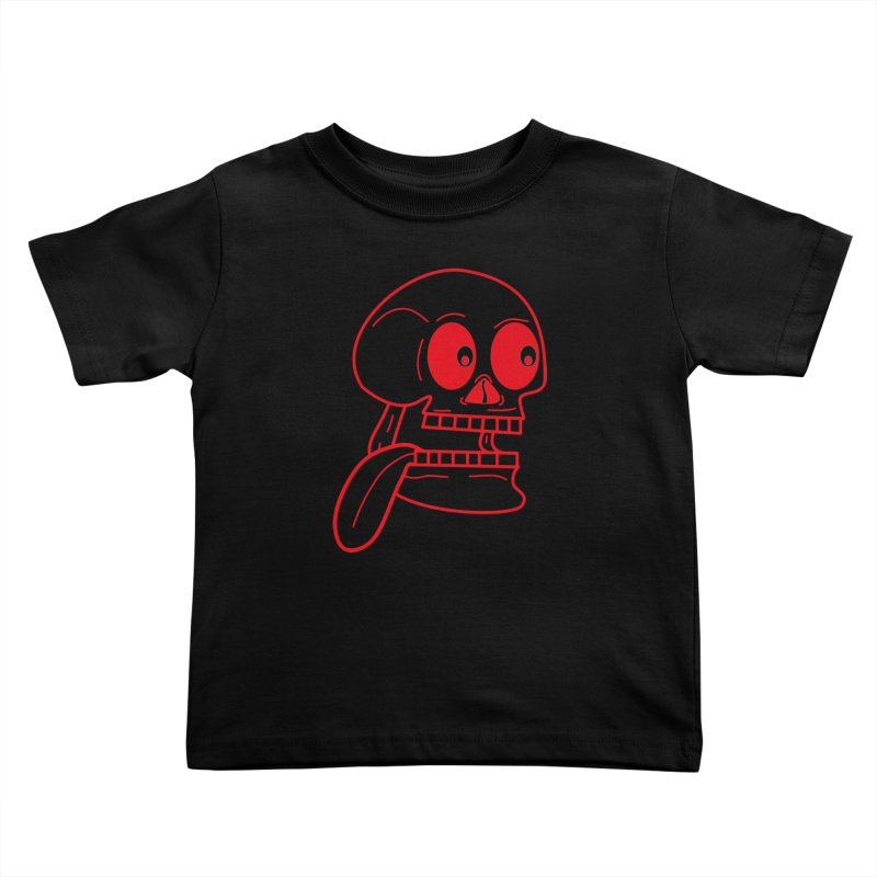 The Eager Skeleton Kids Toddler T-Shirt by Lanky Lad Apparel